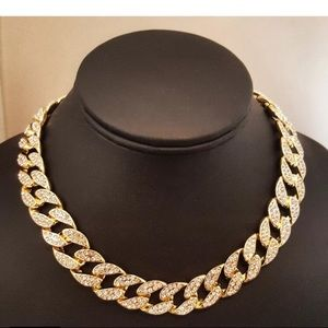 Iced Out Miami Cuban Necklace Choker Hip Hop New
